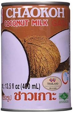 Chaokoh Coconut Milk ounce (Pack Of *** Be sure to check out this helpful article. Gourmet Food Store, Gourmet Recipes, Milk Substitute For Cooking, Soya Drink, Grocery Basket, Milk Allergy, Food Substitutions, Drinking Tea, Coconut Milk