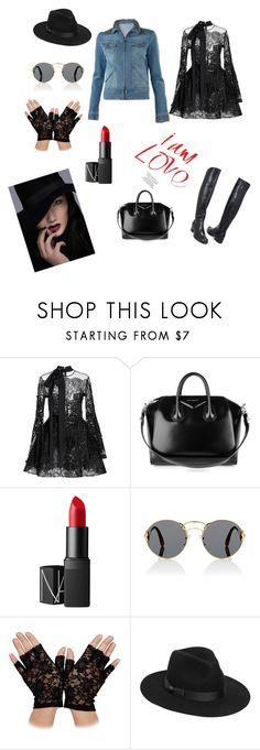 """Без названия #318"" by verest on Polyvore featuring Elie Saab, Le Pepé, Givenchy, NARS Cosmetics, Prada и Lack of Color"