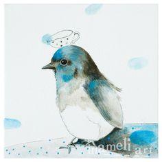 Bird Nursery Nursery Art Nursery Decor blue bird by inameliart, $17.00