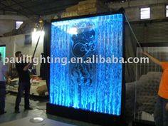 Free standing water bubble panel,indoor waterfall