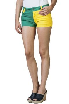 Women's Stretch Color Block Shorts by Gazoz