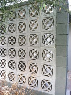 Iconic Decorative Concrete Screen Blocks used in 1950s-1960s. Mid-century modern.