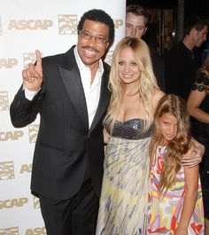 Lionel Richie, Nicole and her little sisier at the ASCAP Awards in Los Angeles on April 9.