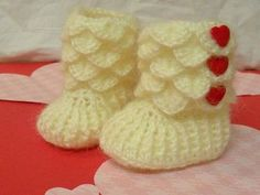 Crocodile Stitch Baby Booties--made to order