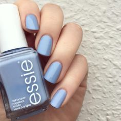 Nothing makes us happier than a sugar sweet atlantic blue 'saltwater happy' mani.