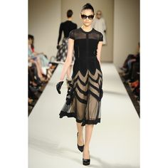 Perfect combo of sheer, LBD, and pattern   Temperley London RTW Fall 2013   Dream Till Green Dream Clothes
