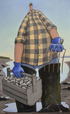 """Phil"" by David Whitbeck. 48""x30"" Oil.  *SOLD* www.maine-art.com"
