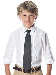 pageboy with black tie