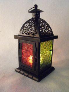 MOROCCAN LANTERN LIGHT TEA LIGHT HOLDER MOROCAN GLASS LAMP DECORATION MOROCCO | eBay