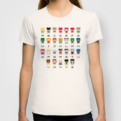 Superhero Alphabet T-shirt by PixelPower