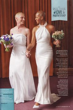 Roben + Lauren #CiviPartnership in #StokeNewington Town Hall - #Diva #magazine (October 13)