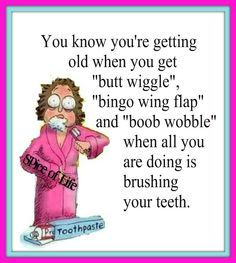 You know you're getting old when you get. Alter Humor, Haha Funny, Funny Jokes, Funny Stuff, Funny Life, Funny Shit, Old People Jokes, Getting Older Humor, Old Age Humor