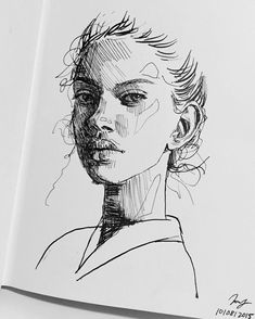 face art women sketch