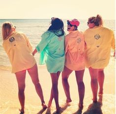 Monogramed Columbia shirts ..how awesome! Possible beach trip or summer shirt. Definitely see one in my near future!