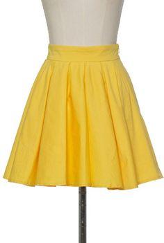 #chloelovescharlie.com    #Skirt                    #Yellow #Pleats #Mini #Skirt                        Yellow Pleats Mini Skirt                            http://www.seapai.com/product.aspx?PID=21727