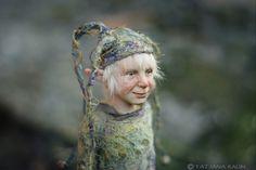 Pixie Timmy Artdolls by Tatjana Raum Dragons, Clay People, Elf Doll, Tall Tales, Fairy Dolls, Felt Art, Pin Cushions, Mice, Polymer Clay