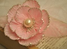 DIY to make a crepe flower ...  Artful Affirmations: Free Video Tutorials