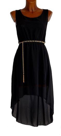 robe cérémonie femme robe du soir bal noir voile asymétrique TU 36 38 40 42