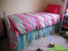 bed skirt. this would b great if ur little girl had a princess room.