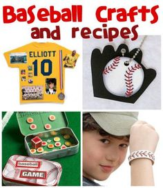 April 23rd is Home Run Day! Make some fun baseball crafts & recipes with your kids. @funfamilycrafts