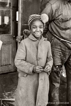 Old Photo of Young African American Girl