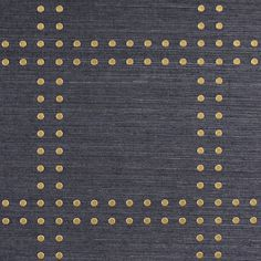 Phillip Jeffries Rivets Wallpaper- gold on navy Specialty & Metallic Rivets 5700 in Gold on Navy Manila Hemp