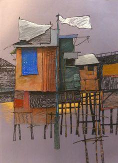 Pastel 50 x 65cm. 2015  http://francoisechamagne.com