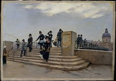 Jean Béraud (French, 1849–1936). A Windy Day on the Pont des Arts, ca. 1880–81. The Metropolitan Museum of Art, New York. Bequest of Eda K. Loeb, 1951 (52.48.1)