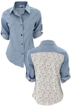 Lace and denim!!!