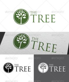 The Tree Logo Template: Nature Green Logo Design Template by nzr. Logo Design Template, Logo Templates, Trajan Font, Smile Logo, Family Chiropractic, Water Logo, Brand Fonts, Tree Logos, Education Logo