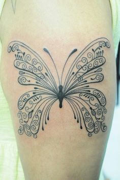 Butterfly with *kisses* underneath it for mine and my daddy's song!