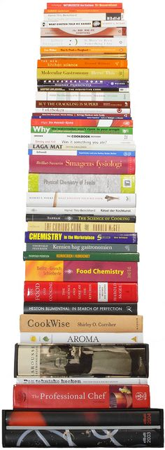 This is me after a trip to the library! Books about food, food, food...