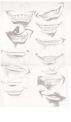 Mouth Study by finath.deviantart.com on @DeviantArt