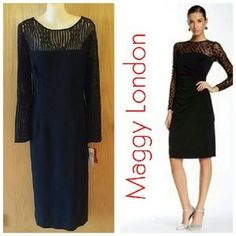 SOLD from my closet on Poshmark: Maggy London Cocktail Dress SZ 14 NWT. Check it out! Price: $50 Size: 14