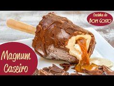 Creme, doce de leite e casquinha de chocolate... Aprenda a fazer o delicioso picolé Magnum!