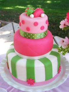 if i have a girl im going to do everything strawberry shortcake! cute cake idea for the shower