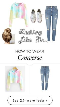 """""""Feeling Like Me."""" by nerdychicka-jesus on Polyvore featuring River Island and Converse"""