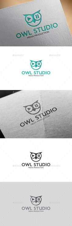 Owl Studio Logo — Transparent PNG #play #animals • Available here → https://graphicriver.net/item/owl-studio-logo/12026660?ref=pxcr