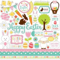 Echo Park Celebrate Easter Cardstock Stickers - Element
