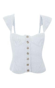 Gray Waffle Knit Sweater by Nina Ricci Now Available on Moda Operandi