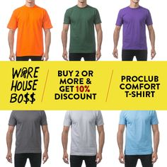 PROCLUB PRO CLUB MENS CASUAL POLO T SHIRT PIQUE SHORT SLEEVE SHIRTS WORK UNIFORM