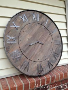 Make a statement in you home with a DIY Large Rustic Clock, a Pottery Barn Knock Off. This step by step tutorial will show you how to make your own clock.