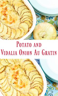 Vidalia onion season is here! My all-time favorite onions are perfect for making Potato and Vidalia Onion Au Gratin. This side dish pairs perfectly with grilled steaks or chicken. Yum! #OnlyVidalia #ad #VidaliaOnions