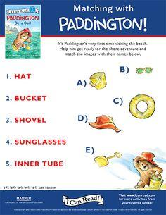 Paddington free printable activity sheets