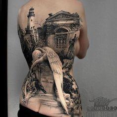 Angel of Grief Tattoo Full Back Tattoos, Great Tattoos, Unique Tattoos, Beautiful Tattoos, Amazing 3d Tattoos, Beautiful Body, Beautiful Women, Miami Ink Tattoos, Sexy Tattoos