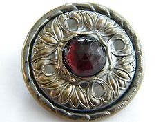 Vintage Antique Metal Button Jeweled Gay 90 Victorian Old Brass Paste Cut Steel | eBay