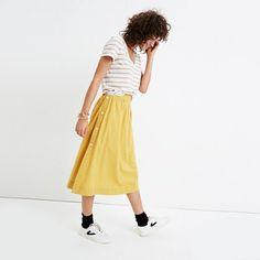 Madewell+-+Side-Button+Skirt