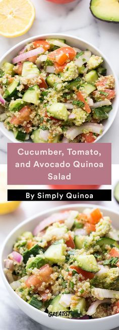 7. Cucumber, Tomato, and Avocado Quinoa Salad #Healthy #Quinoa #Salads http://greatist.com/eat/quinoa-salads-we-cant-wait-to-dig-into