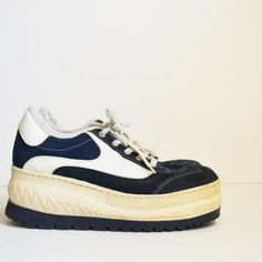 skechers platform sneakers. vintage platform sneakers tennis shoes soho white and blue spice girls kicks rave club kid size skechers