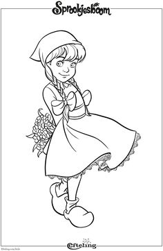 Roodkapje van Sprookjesboom. Efteling kleurplaat. Disney Coloring Pages, Coloring For Kids, Colouring Pages, Coloring Sheets, Coloring Books, Rainy Day Activities, Preschool Activities, David The Gnome, Princess Theme